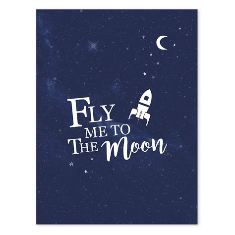 Fly To The Moon lilipinso fly me to the moon poster 轢 minideco co uk