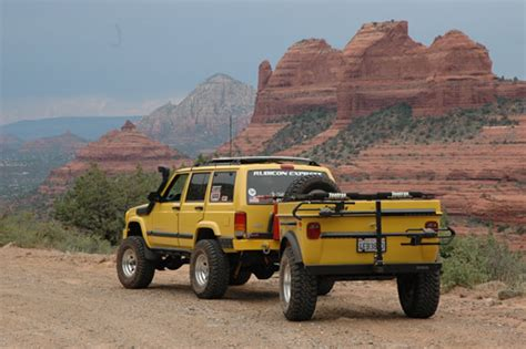 jeep offroad trailer jeep cherokee tent trailer for 4x4 off road cing by tentrax