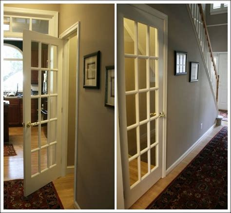 French Door To The Basement So Doing This So It Gives Interior Basement Doors