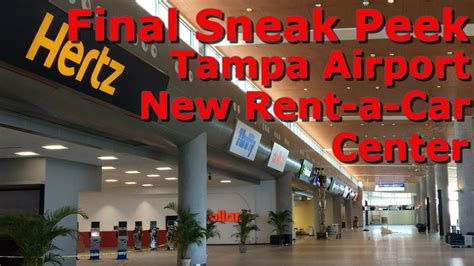 final sneak peek tampa international airport  rent