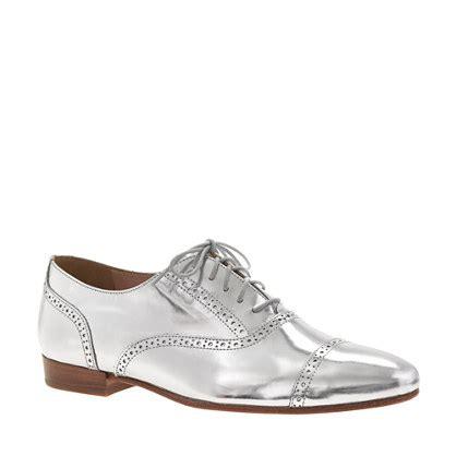 metallic oxford shoes womens mirror metallic oxfords size 12 j crew