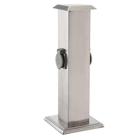 energieverteiler garten energieverteiler mit zwei steckdosen in modernem design