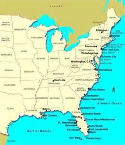 map eastern sea coast usa map of east of usa map travel holidaymapq