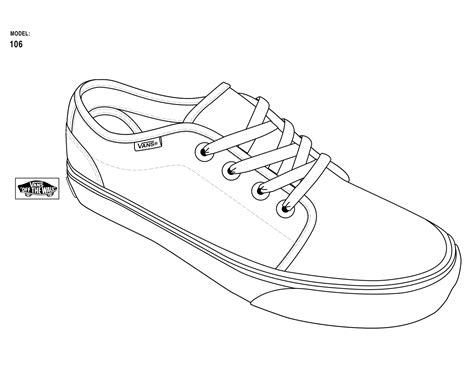 coloring pages of vans shoes vans shoe free coloring pages