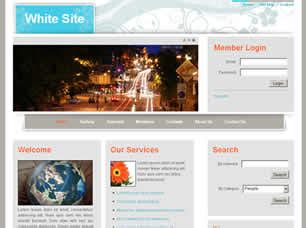White Site Free Website Template Free Css Templates Free Css White Website Templates
