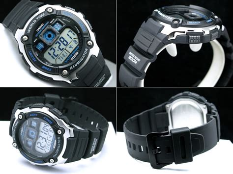 Casio Original Mtp V006d 1b casio world time digital ae 2000w 1avdf original