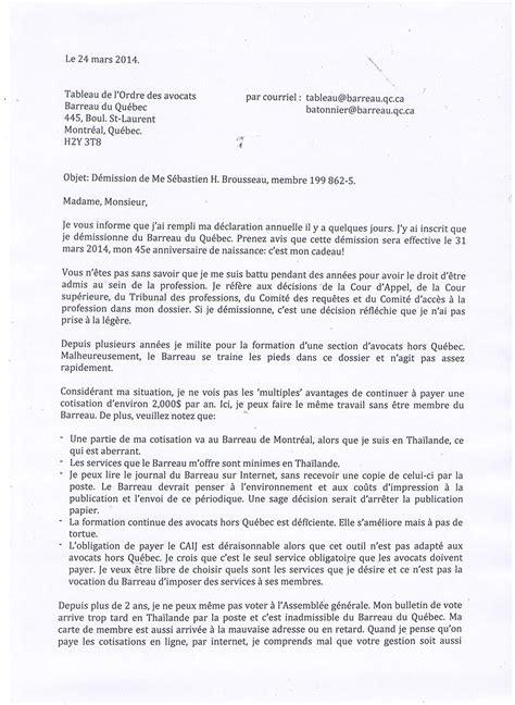 Exemple De Lettre De Démission Du Chsct lettre de demission application letter