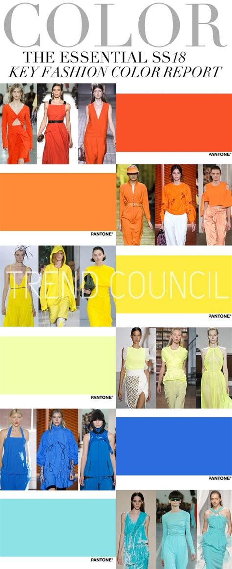 trends springsummer fashion colour forecast ss 2018 trends trend council key fashion colors ss 2018