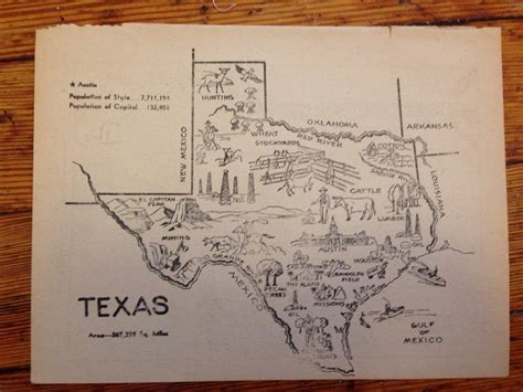 texas map prints texas map print vintage map 1950s state wall by hildalea
