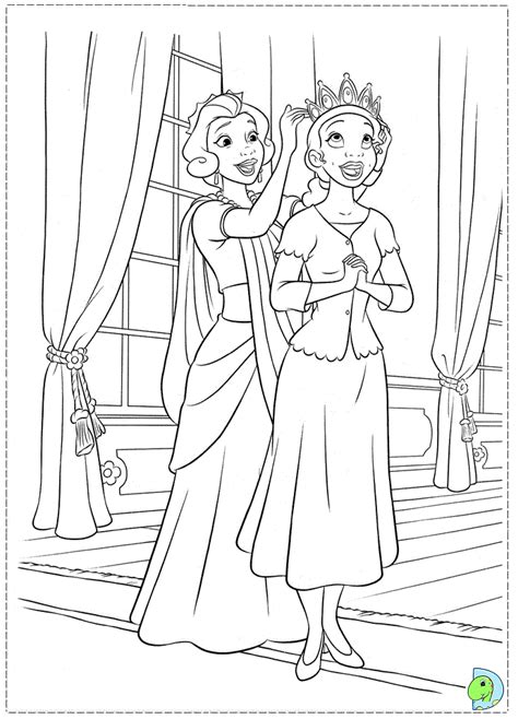 The Princess And The Frog Coloring Page Dinokids Org Frog Princess Coloring Page Free Coloring Sheets