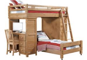 Bunk Bed With Desk Creekside Taffy Student Loft Bed W Desk With Chest Bunk Loft Beds Light Wood