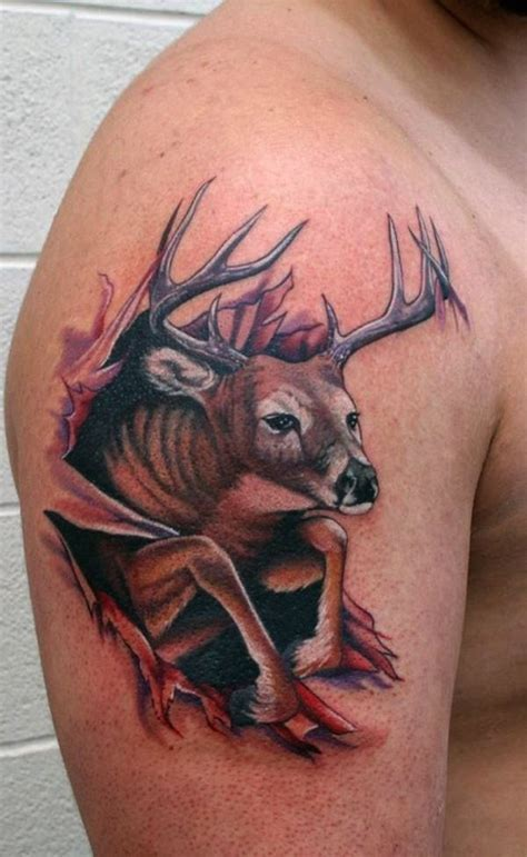 tribal elk tattoo designs deer tattoos ideas pictures for