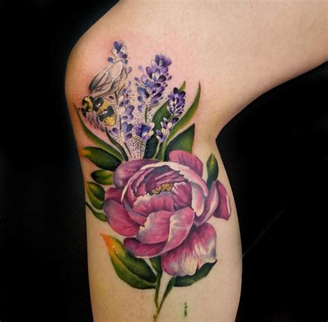rose and bee tattoo lilac flower flowers ideas for review