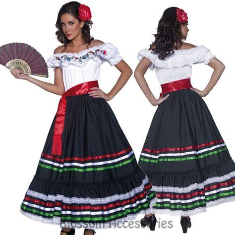 details  cl western senorita costume mexican