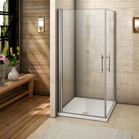 Corner Entry Shower Doors Aica Pivot Hinge Quadrant Corner Entry Shower Enclosure Cubicle Glass Door