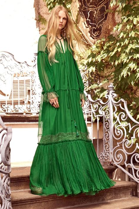 Roberto Cavali Green roberto cavalli resort 2017 collection