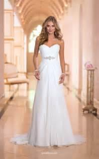 Chiffon Wedding Dress A Line Strapless Sweetheart Stunning Ivory Chiffon Wedding Dress Groupdress Com