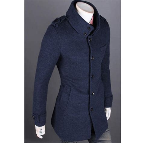 Blend S Standee buy mens fall winter wool blend fashion stand collar coat