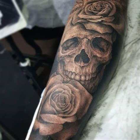 skull and roses tattoo ideas best flowers and rose 2017