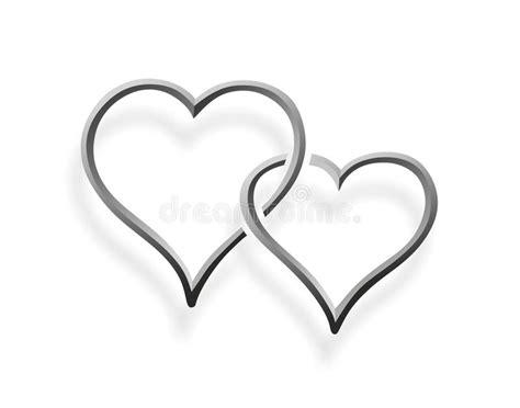 wedding clipart tiff dos corazones entrelazados stock de ilustraci 243 n imagen de