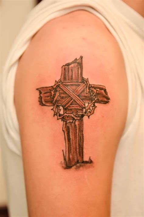 wooden cross tattoo best 20 wooden cross tattoos ideas on