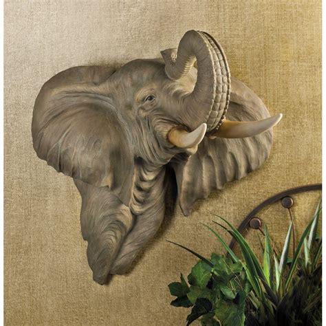 elephant large animal plaque figurine hanging
