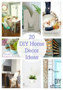 diy projects home decor 20 diy home decor ideas link party features i heart