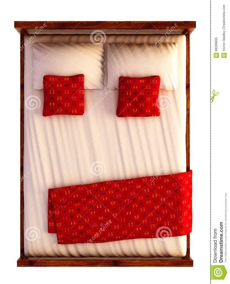 how to be good on top in bed bed top view on white stock illustration illustration of