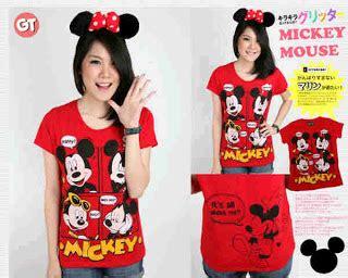 Stelan Mickey baju karakter anak dan abg kaos stelan jaket mickey