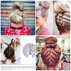 easy buns for shoulder length hair simple french braid updo hairstyles for medium hair