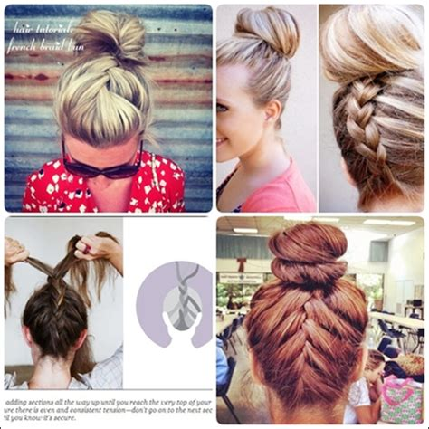 easy messy buns for shoulder length hair simple french braid updo hairstyles for medium hair hair