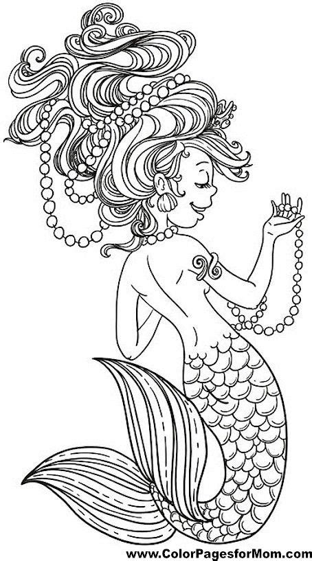 mermaids for adults coloring pages 17 beste afbeeldingen over coloring sea and ocean op