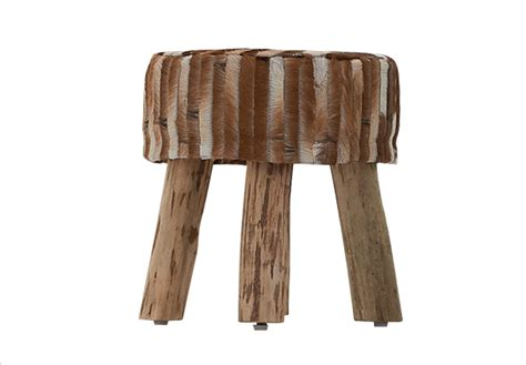 Hocker Mit Fell by Hocker Mit Fell
