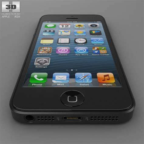 3 iphone models apple iphone 5 black 3d model hum3d