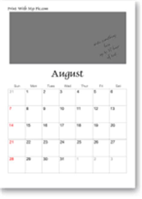 make a personal calendar with photos free free calendar templates add your own photos or