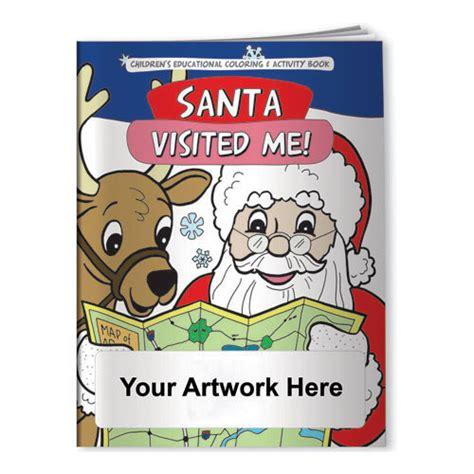 printing custom coloring book custom printed coloring book santa visited me
