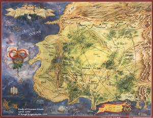 Eye Of The World Map by The Wheel Of Time Routes