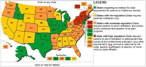 state home school requirements american high school