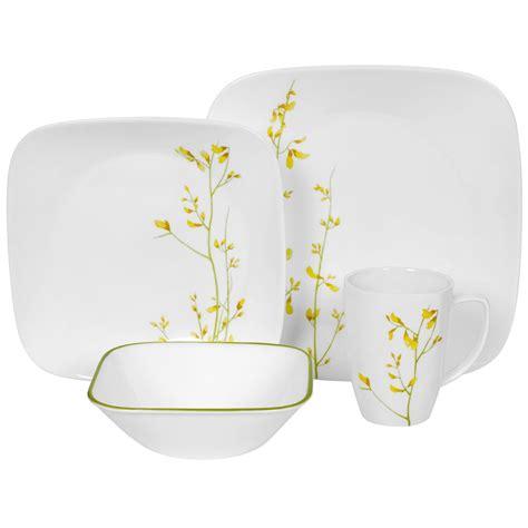 Corelle Squared Pattern Dinnerware | corelle kobe square 16 piece dinnerware set mojosavingscom