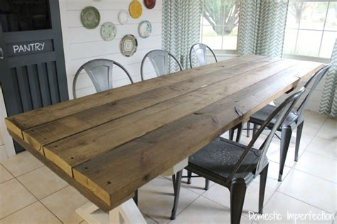 picnic style dining room table rustic picnic style dining table domestic imperfection