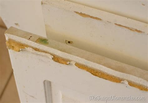Water Damaged Kitchen Cabinets How To Re Paint Your Yucky White Cabinets