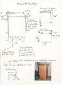 wooden kitchen trash can plans pdf woodworking
