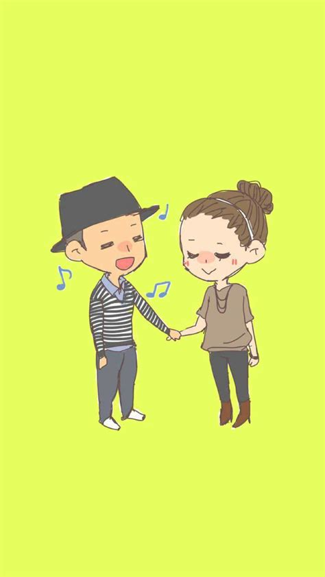 couple wallpaper mobile9 cute lovely couple sharing korean cartoon running man
