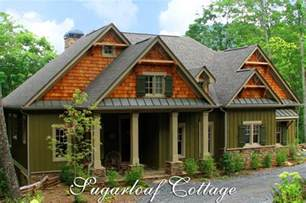 cabin style home plans rustic mountain style cottage house plan sugarloaf cottage