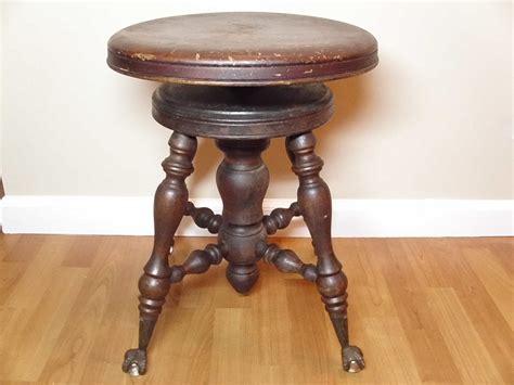 antique melvin bancroft mahogany piano stool