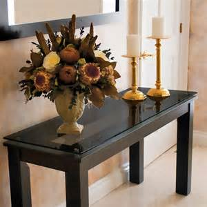 Decorating A Console Table Decorate Home Interior With Modern Glass Console Modern Console Table Black Home Decoration Ideas