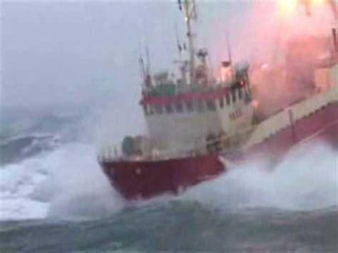 fishing boat accident shoreham trawler in rough sea youtube