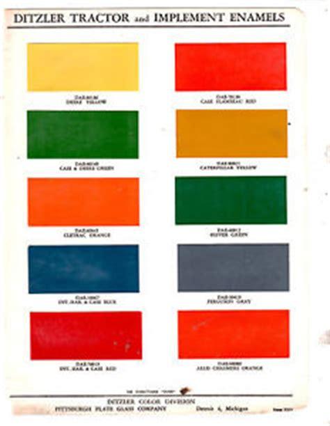 deere cletrac cat international oliver tractor implement paint chip ditzler ebay