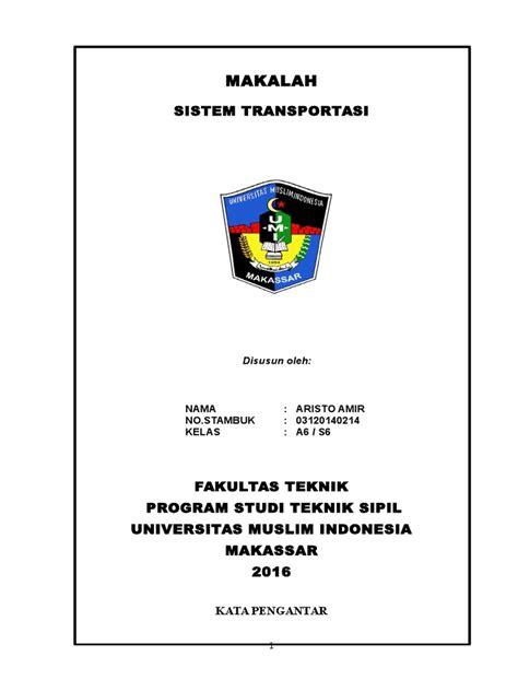 Pengantar Sistem Transportasi Original makalah sistem transportasi