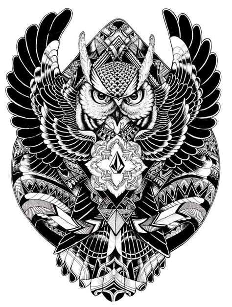 volcom tattoo designs 17 best ideas about owl designs on owl doodle